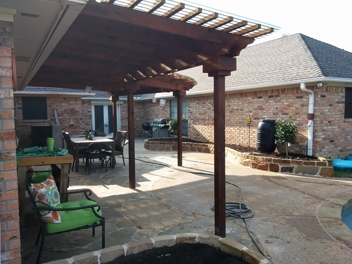 ... Enjoy New Patio With Arbor ...